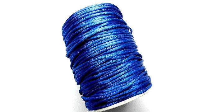 80Yard Chinese Knot Macrame Rattail/Satin Nylon Jewelry Cord 3.00mm Dark Blue Free Shipping