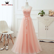 Plus Size Evening Dresses Long A-line Tulle Lace Wine Red Pink Grey Wh