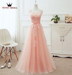 Plus Size Vestidos de Noite A Linha de Tulle Lace Vinho Tinto Rosa Cinza Branco Azul Longo Vestido de Noite Formal Vestido de Festa Real foto DR03