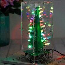 DIY Kit RGB Flash LED Circuit Kit Colorful 3D Christmas Trees Kit MP3 Music Box with Shell Christmas Gift Electronic Fun Suite