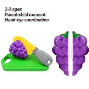 Image 4 - 12 23 adet çocuk mutfak oyna Pretend oyuncaklar kesme meyve sebze gıda minyatür Play yapmak ev eğitim oyuncak hediye kız çocuk için
