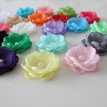 4cm Boutique Burn fabric flower Layered Poppy flower For Girl Kids Headband Hair Accessories Singed Flower 1000pcs