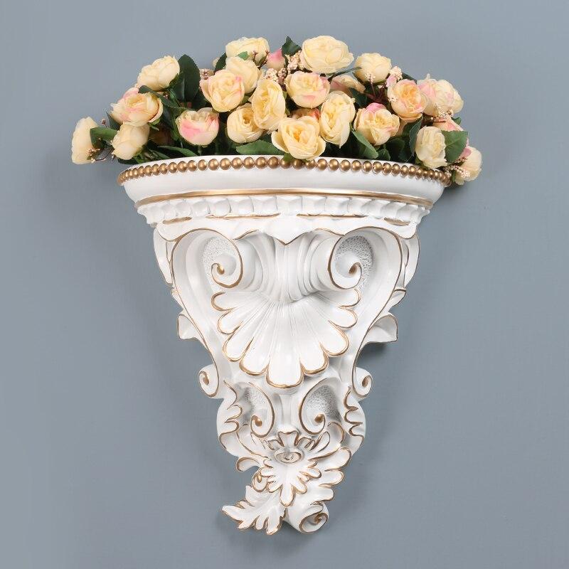 Moderne résine tenture murale fleur Vase Mural artisanat Art maison fleur Arrangement pendentif salon faux pot de fleurs ornements