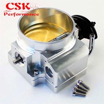Cuerpo del acelerador de entrada de 92mm + placa adaptable para GEN III LS1 LS2 LS3 LS6 LS7 LSX plata/ negro