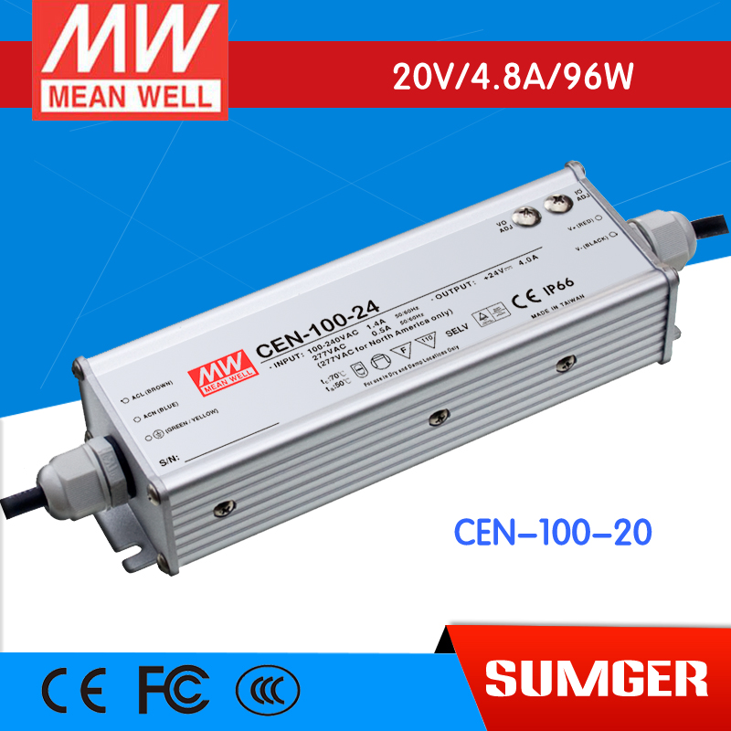 3MEAN WELL original CEN-100-20 20V 4.8A meanwell CEN-100 20V 96W Single Output LED Power Supply