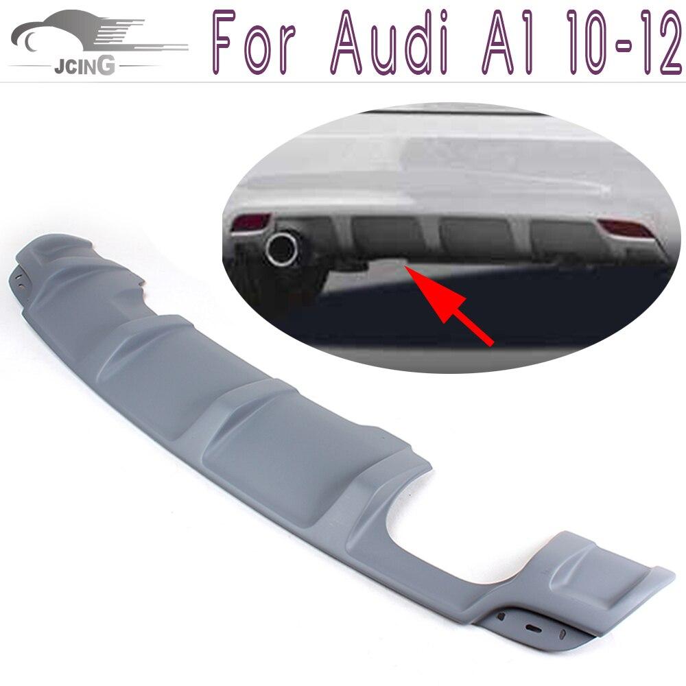 Unpainted PU Grey Primmer Rear Bumper Lip Diffuser Spoiler Fit For Audi A1 10-12