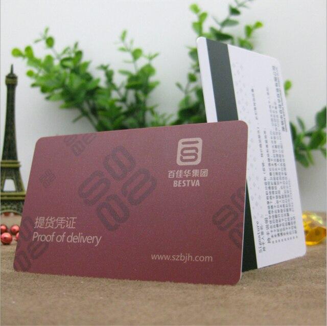 50Pcs Wholesale Custom Factory Price Magnetic stripe Pvc ID Blank