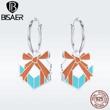 BISAER New Design Enamel Comic Gift Box Dorp Earrings for Girl MAG Anime Culture Fashion Jewelry Brincos Girls Gift GSE191 ежедневник chisu nilakantha bodhi culture gift box