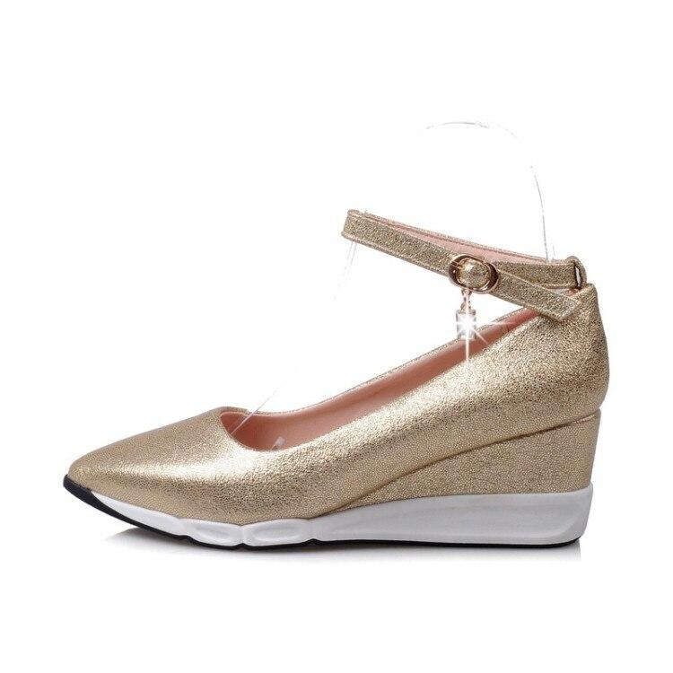 gold En Zapatos Dedo Talón Xjrhxjr sliver Comodidad Punta Pie Moda Plataforma Mujer Med Gladiador Tacones Primavera Mujeres Pink Cuñas Del Otoño Nueva qqpw1tP