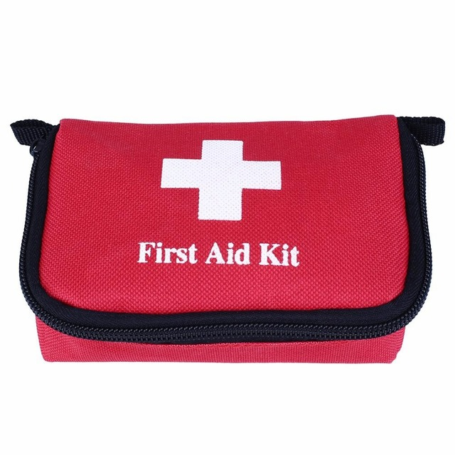 Travel First Aid Kit Bag Small Emergency Medical Survival Treatment Rescue Box