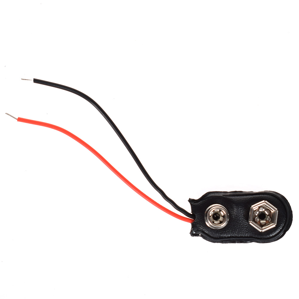 10PCS 9V PP3 9Volt Battery Snap On Clip Connector I Type Holder 12CM Lead