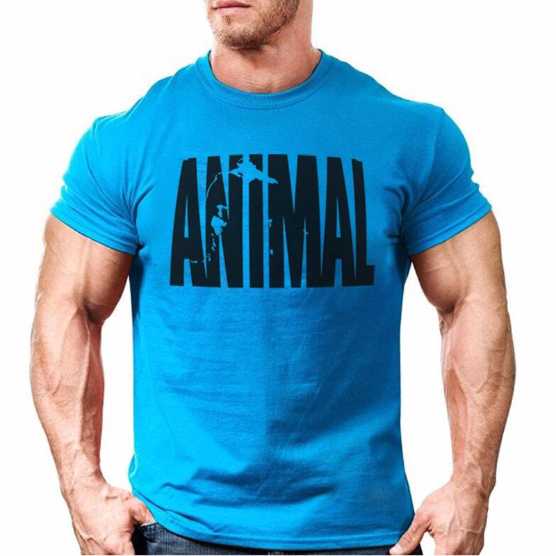 Devin Du Fitness Mens Animal Iconic T Shirt Bodybuilding Short Sleeve Tops Crew Neck Gyms Musclefitting Tee XS-XXL