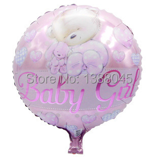 6pcs/lot Baby Shower Helium Foil Balloons Baby Boy Girl Birthday Party Decorations 1th Birthday Party Suppliers Air Balls