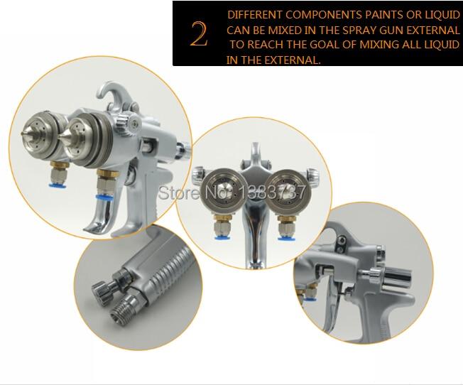 Set di strumenti di verniciatura SAT1189 doppio ugello di alta - Utensili elettrici - Fotografia 2