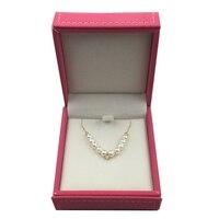 天然真珠ネックレスで18 k Au750ゴールドインレイ高光沢石ペン