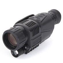 Горячая CCD Инфракрасный цифровой ночного видения монокуляр сфера 5×40 для 200 м 5X зум 5MP цифровой ночного видения камера видео в CCD!