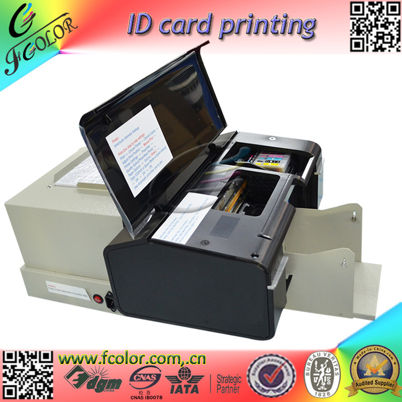 Inkjet ID Card Printting Machine AutoMatic Inkjet CD Printer With 52 Trays for ID Cards and CD 1pcs zy rm6 semi automatic shoe box coding machine pedal code printer code letter press card embosser printer