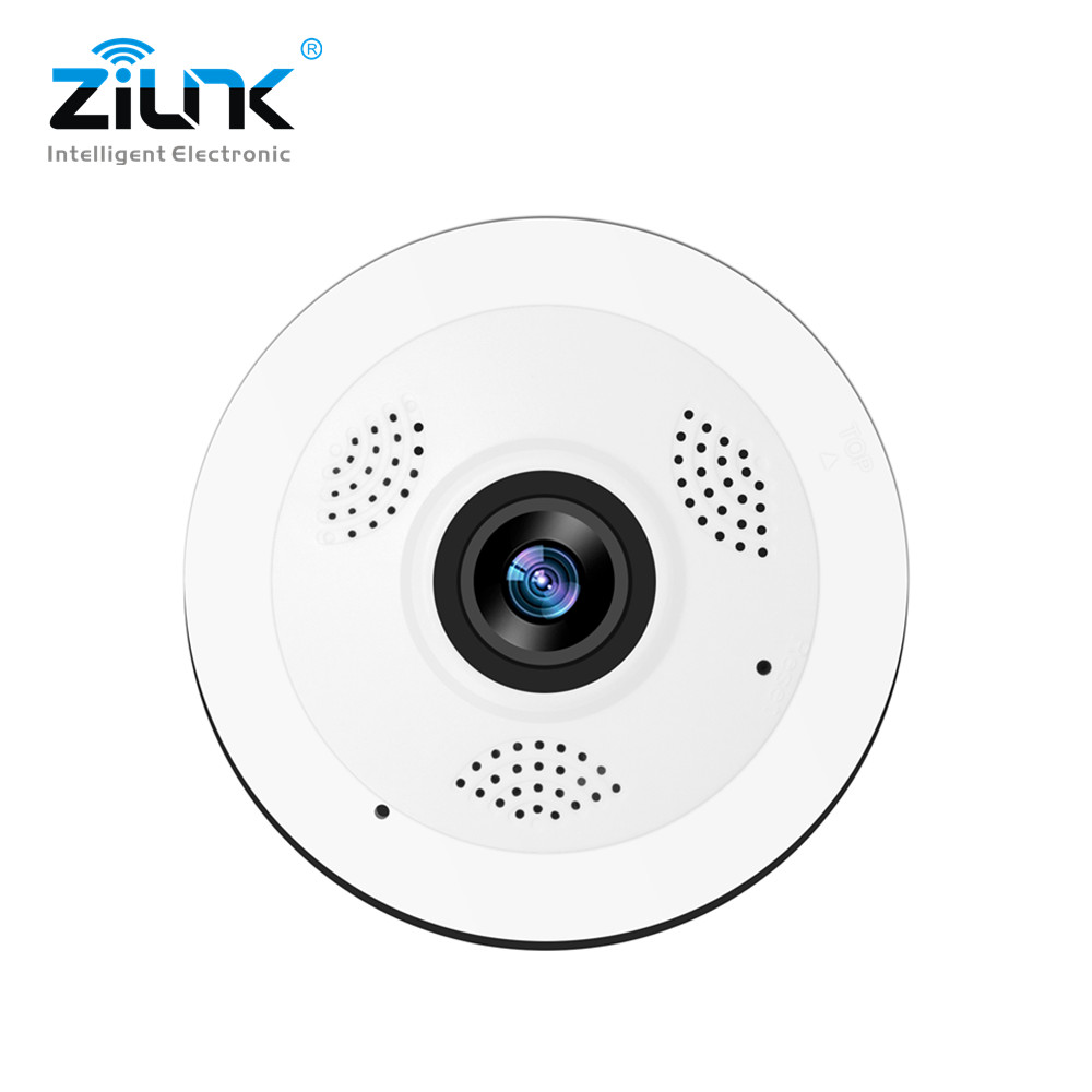 ZILNK WIFI Camera 360 Degree 1080P 960P HD Wireless IP Camera Home Security Indoor Panoramic Fisheye CCTV Video Camera SD Card
