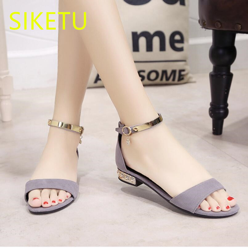 SIKETU Women shoes Free shipping 2017 Summer sandals Wild Fashion casual shoes student Flat shoes sex flat lx004 siketu 2017 free shipping spring and autumn high heels shoes fashion women shoes wedding shoes sex wild pumps g427