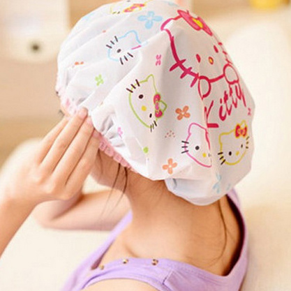 Image result for shower in a shower cap