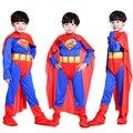 Envío gratuito de Halloween para niños Traje de Superman Superman costume niño trajes de disfraces cosplay