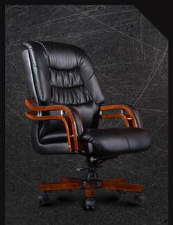 Купить с кэшбэком The boss chair is genuine leather... Can lie in the computer chair. With massage can lift the head layer of cow leather office 1