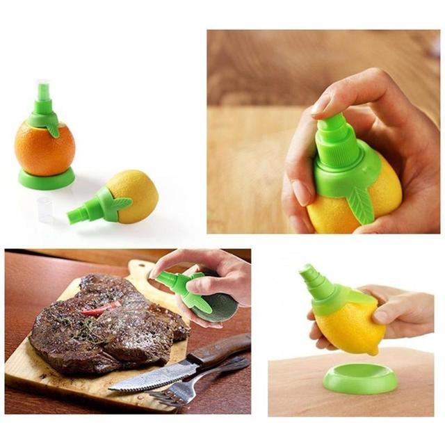 2 pz/set Casa Gadget Da Cucina Creativa di Frutta Spruzzatore di Limone Spremiag
