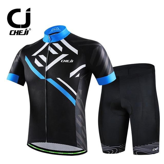 Cheji Men s Black Cycling Clothing Bike Jersey   Cycle 3D Gel Padded Shorts  Set Men s Bicycle MTB Wear   Set Reflective 6a34d6d8d