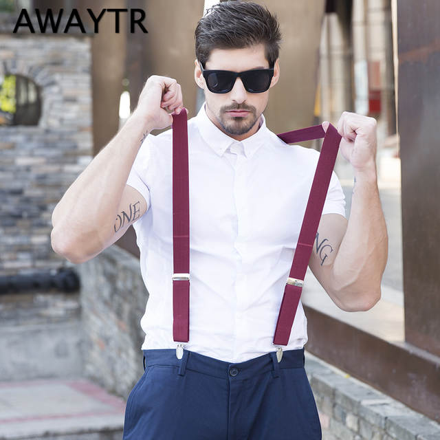 8df23e35e placeholder AWAYTR Dot Print Red Wine Adjustable Braces for Men Shirt  Suspenders 110 cm X Sharp Suspensorio