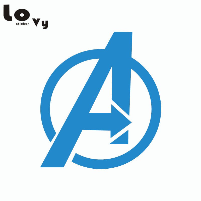 80s Superhero The Avengers Logo Vinyl Wall Sticker For Kids Room