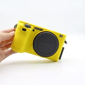 Image 3 - غلاف كاميرا سيليكون ناعم جلد واقي لحقيبة سوني a6500