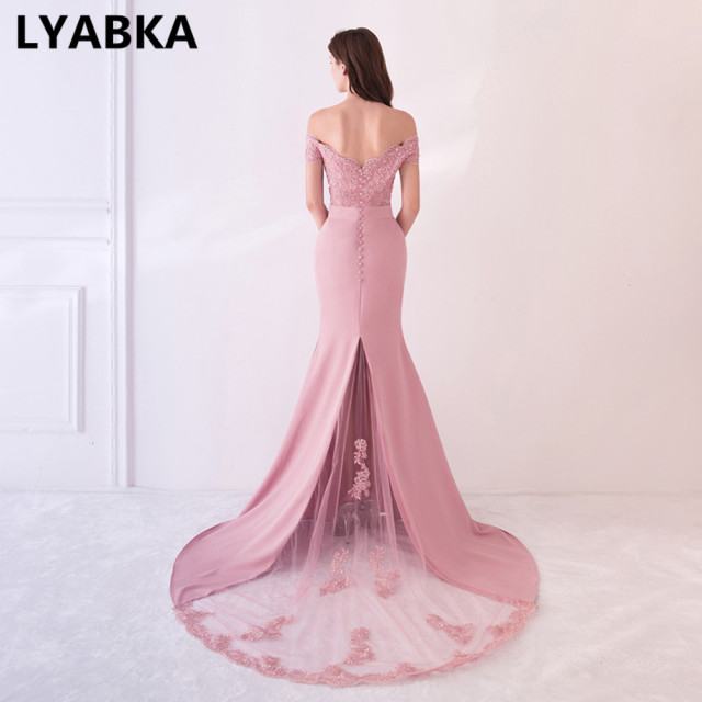 Evening Dress Abendkleider Design Sweetheart Mermaid Prom Dress Satin With Appliques Evening Dresses Long Robe De Soiree