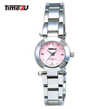 Time2U Lady Fashion Mother Of Pearl Dial Business Small Dial Women Quartz Watch Wristwatch