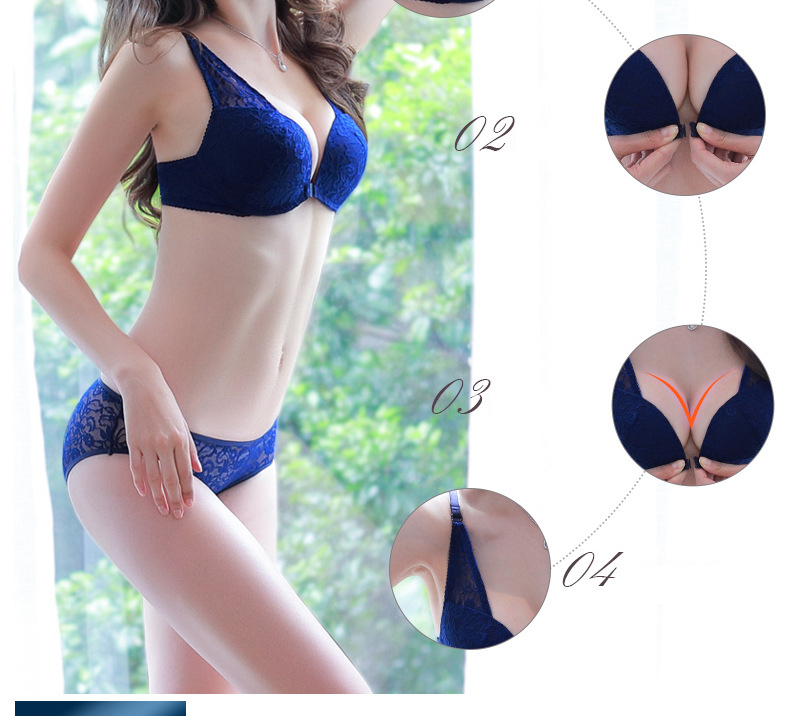 f0b311bedb Detail Feedback Questions about PAERLAN Front Buckle No Steel Bra ...