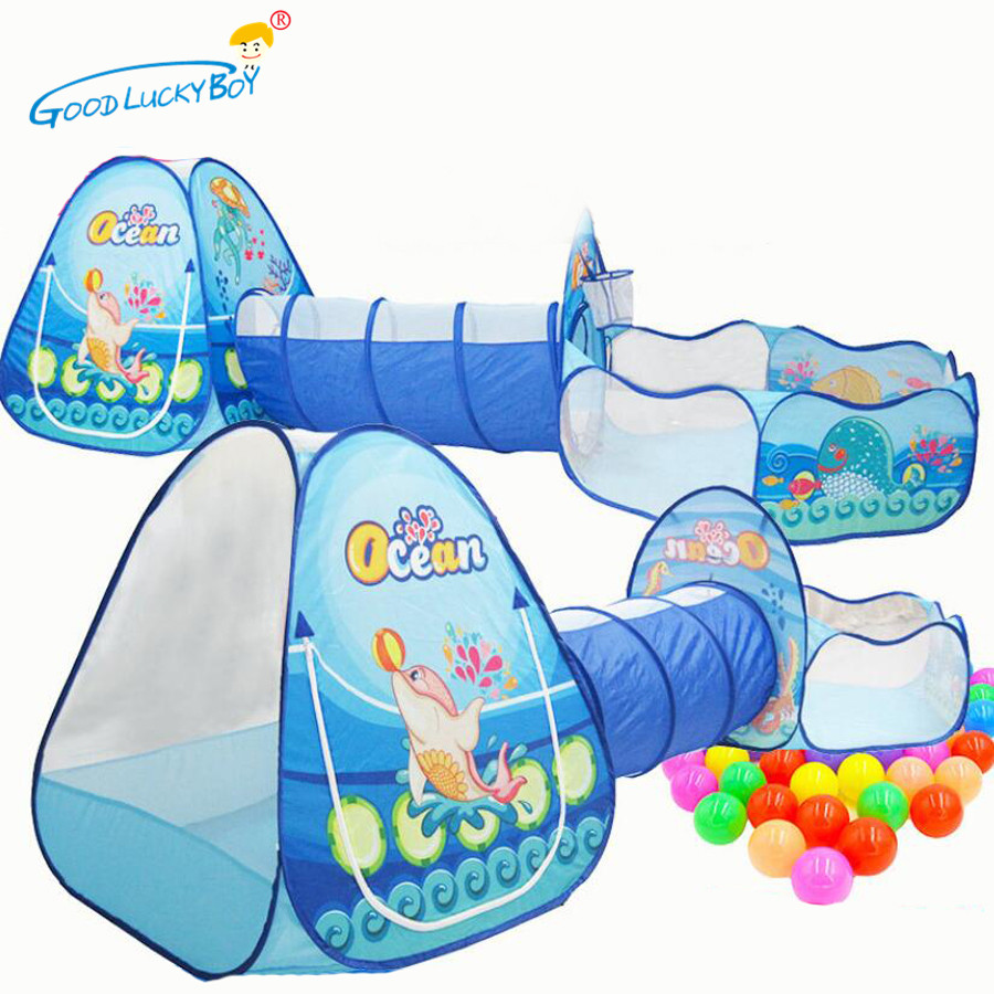 Toys Tunnel Tent Ocean Series Cartoon Game Big Space  Ball Pits Portable Pool Foldable Children Outdoor Sports Educational Toy