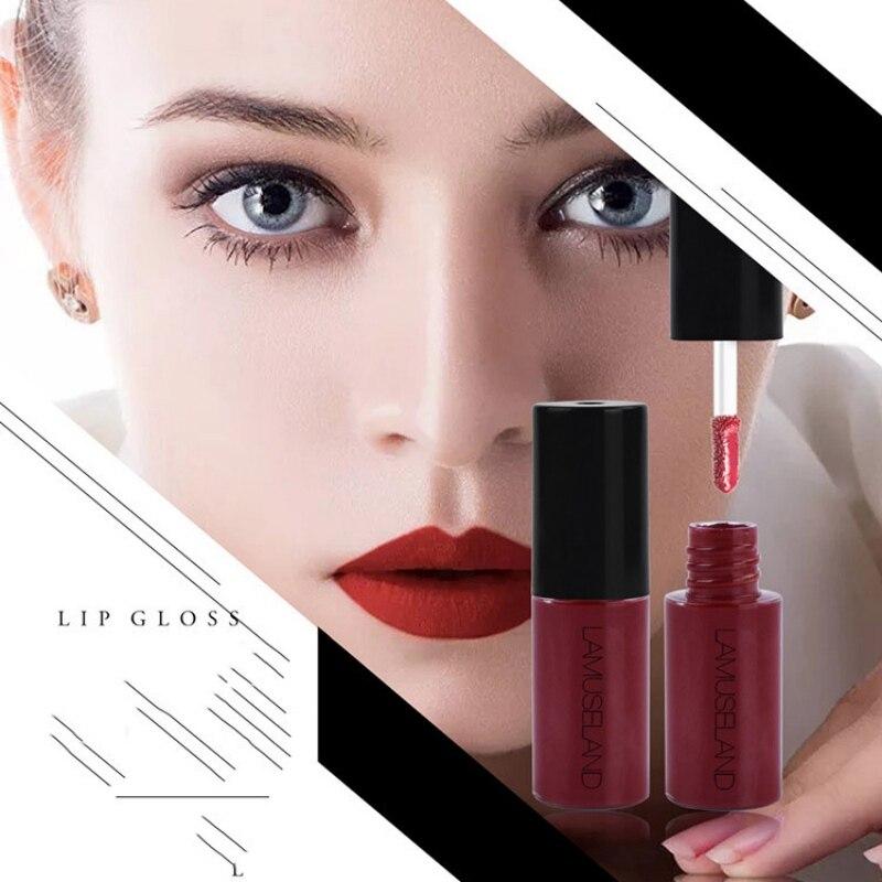 2019 Waterproof  Lip Gloss Paint Pigments Long Lasting Wine Red Liquid Lipstick Vivid Matte Sexy Women Lip Cosmetic beauty