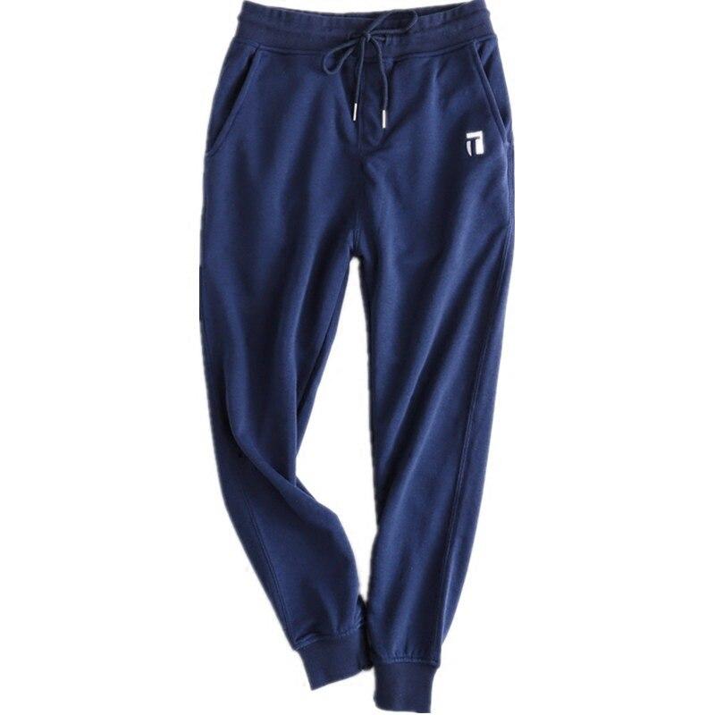 @1  Весенние 100% -ые хлопковые спортивные штаны Свободный бег Фитнес Harlan Спортивные брюки Мягкие удо ✔