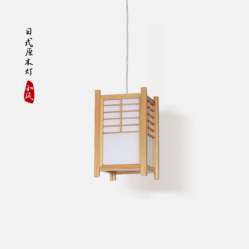 все цены на Japanese style wood pendant light tatami wood bar restaurant aisle porch hanging light lamp онлайн