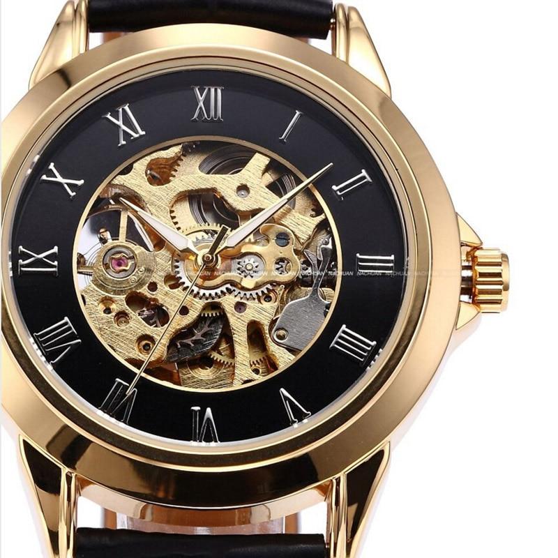 Shenhua Mens Watches Jenama Mewah Emas Jam Tangan Automatik Mekanikal - Jam tangan lelaki - Foto 5