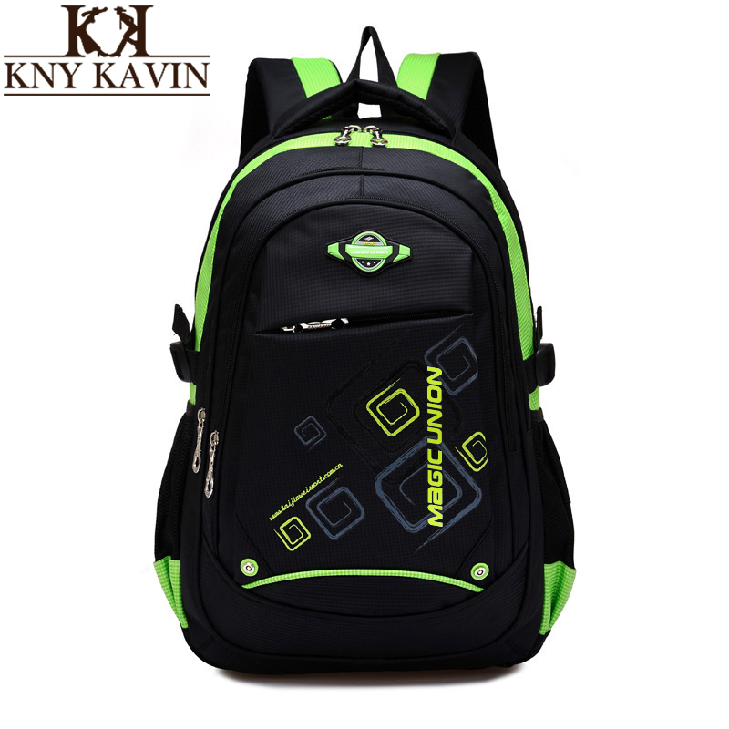 KNY KAVIN High Quality School Bags For Teenagers Children School Backpacks Schoolbags For Girls Boys Mochila Infantil Zip цена