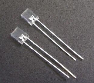02-62 100 sztuk/partia 2X3X4 plac LED przezroczysty czerwony dioda emitująca światło (kwadrat)
