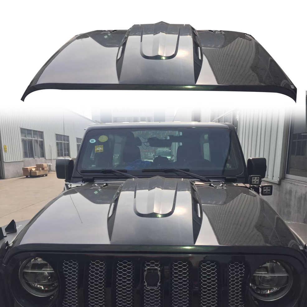 STA Hood Protector for Jeep Wrangler JL 2Doors 4Doors Gladiator JT 4Doors Stone Guard Trail Aromor Hood Bonnet Guard