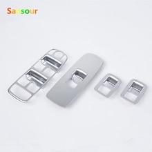 Sansour оконный переключатель Крышка для Volvo XC60 S60/L V60 хромированная оконная Кнопка панель наклейка- аксессуары для стайлинга автомобилей