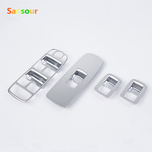 Sansour Window Switch Cover For Volvo XC60 S60 L V60 Chromium Window Button Panel Sticker 2014