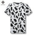 2016 Homme Short Sleeve Men T Shirts Men's Casual Fashion Slim Fit Large Size V Neck Printing T Shirt Camisa Masculino Men Shirt