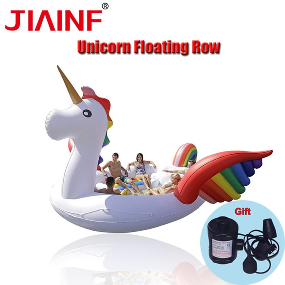 Giant Unicorn Party Bird Island Swimming Pool Island Lounge Unicorn Float Boat for 6-8people battle for hell s island