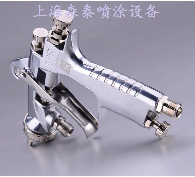 Libérez Le Bateau Japon fait HVLP W101 peinture pistolet Gavity/aspiration/pression d'alimentation 0.8/1.0/1.3/1.5/1.8 buse avec tasse