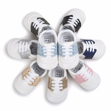 אופנה ילדים Prewalker ילדים בנים & הנערה בייבי נעלי ספורט Non- להחליק נעלי ספורט Sapatos Infantil Bebe רך הליכונים הראשונים ערש נעליים