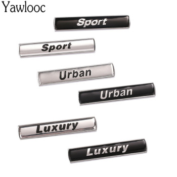 Yawlooc Luxury Urban Sport Refit Car Auto Fender Tailgate Emblem Badge Sticker for BMW E36/E30/E34/E39/E46/E60/E90/F10/F30 image