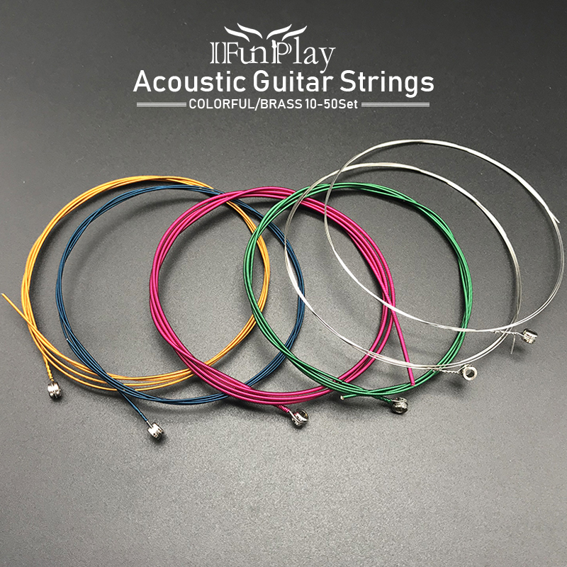10set colorful acoustic guitar string steel brass folk guitar string gauge strings for wooden. Black Bedroom Furniture Sets. Home Design Ideas